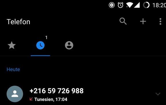 Unbekannter Anruf Aus Tunesien