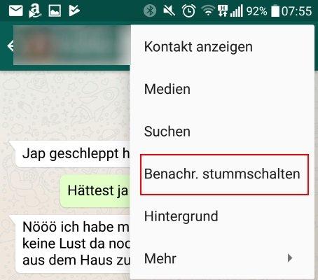 whatsapp-stummschalten
