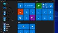 Windows 10: Apps verschwunden / Pfeil-Symbol (nach Fall Creators Update)