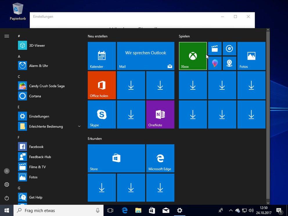 Windows 10: Apps verschwunden / Pfeil-Symbol (nach Fall Creators ...