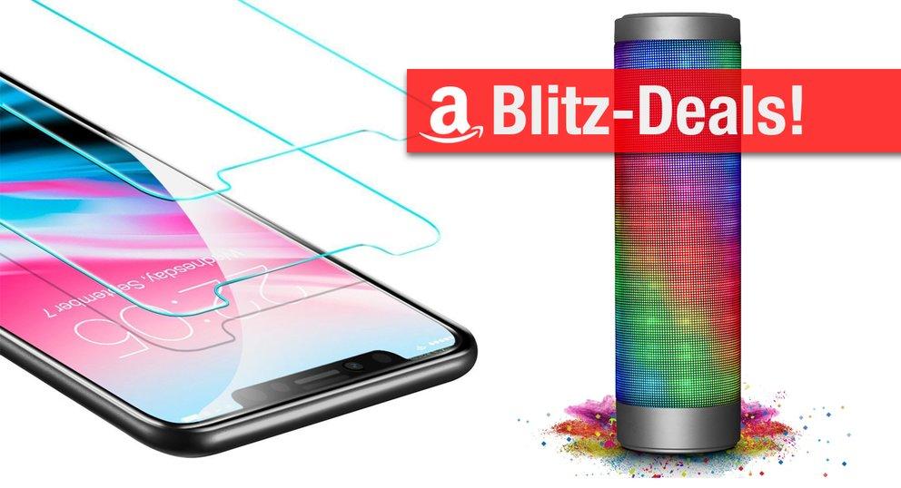Amazon Blitzangebote: iPhone X Panzerglas, intelligente Ladestation, Mini-Kühlschrank stark reduziert