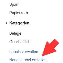 Gmail Neues Label erstellen