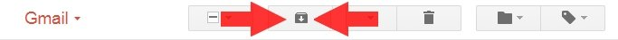 Gmail archivieren Button