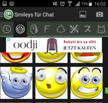 Kotz-Smiley mit Smileys für Chat verschicken
