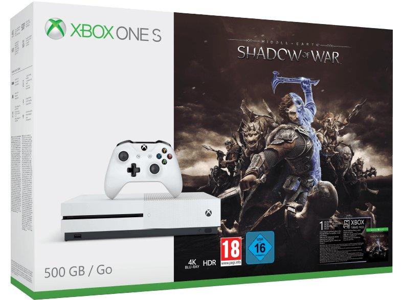 MICROSOFT-Xbox-One-S-500GB-Konsole---Mittelerde_-Schatten-des-Krieges