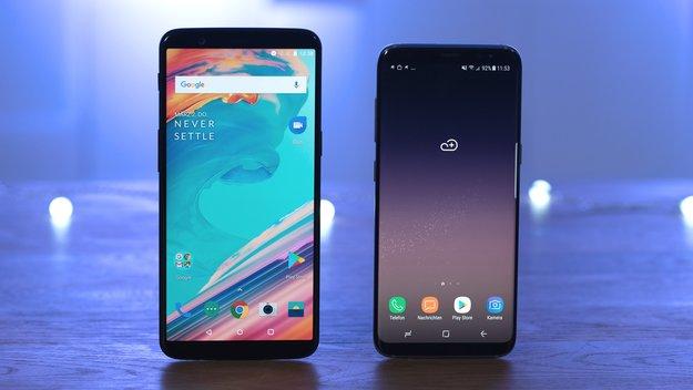 OnePlus 5T und Samsung Galaxy S8 im Vergleich: Endlich auf Augenhöhe?