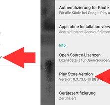 Play Store Update in Einstellungen anstoßen (bebilderte Anleitung)