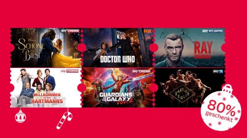 Sky Ticket Weihnachts-Angebot: 2 Monate Entertainment & Cinema für 9,99 €