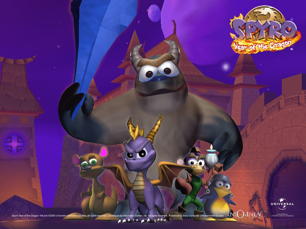 Spyro_&_Friends_Desktop_Wallpaper