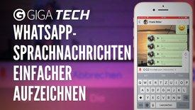 WhatsApp: Sprachnachrichten einfacher...