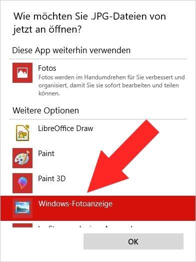 Windows-Fotoanzeige in Windows 10 Eigenschaften 04