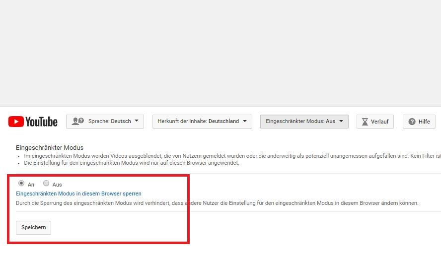 Youtube Kindersicherung Sicheren Modus Aktivieren Und Deaktivieren