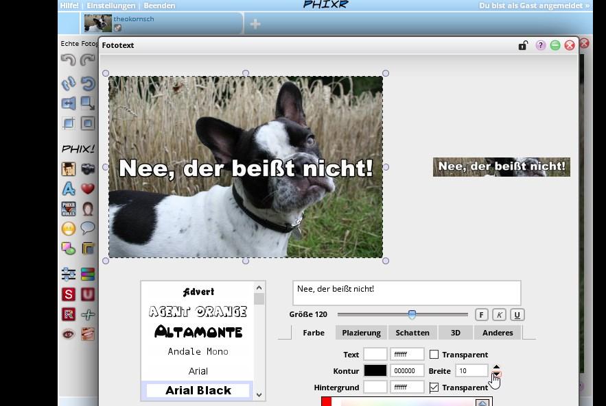 Bilder mit Schrift versehen: Textkünstler online, für PC und Handy ...