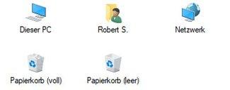 Anleitung: Arbeitsplatz, Eigene Dateien, Papierkorb etc. auf dem Desktop anzeigen