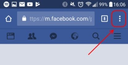 Facebook Browser Ansicht