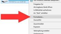 Festplatte formatieren in Windows 7, 8, 10 – so geht's