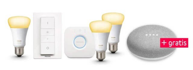google_home_mini_philips_hue_white_ambiance_e27_3er_starter_set_inkl._dimmschalter_white