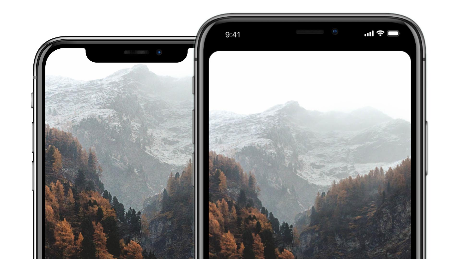 Iphone X Notch Wallpaper App Und Vorlagen Zur Entfernung