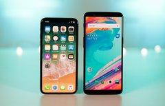 OnePlus 5T und iPhone X im...