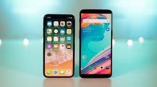 OnePlus 5T und iPhone X im Vergleich: Vernunft gegen Luxus