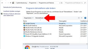 So deinstalliert ihr Programme in Windows