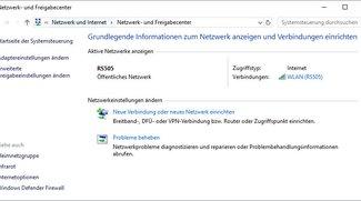 Windows 10: Netzwerk- und Freigabecenter öffnen – so geht's
