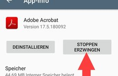 Android-Apps: Beenden...