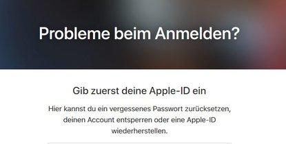Apple id password vergessen