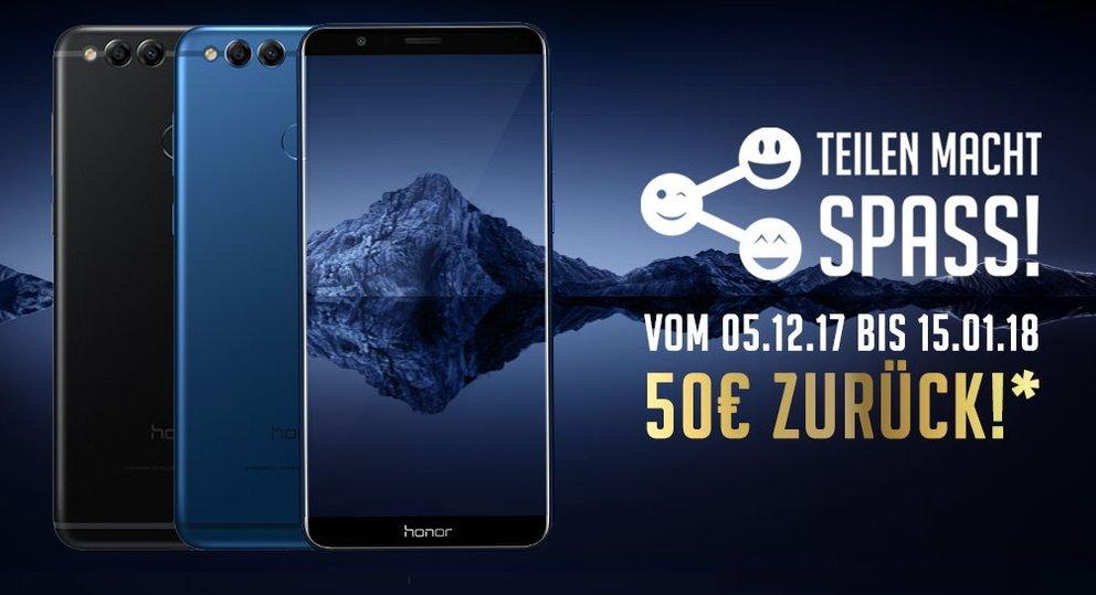 Honor 7X feiert Marktstart zum Hammerpreis mit 50 Euro Cashback