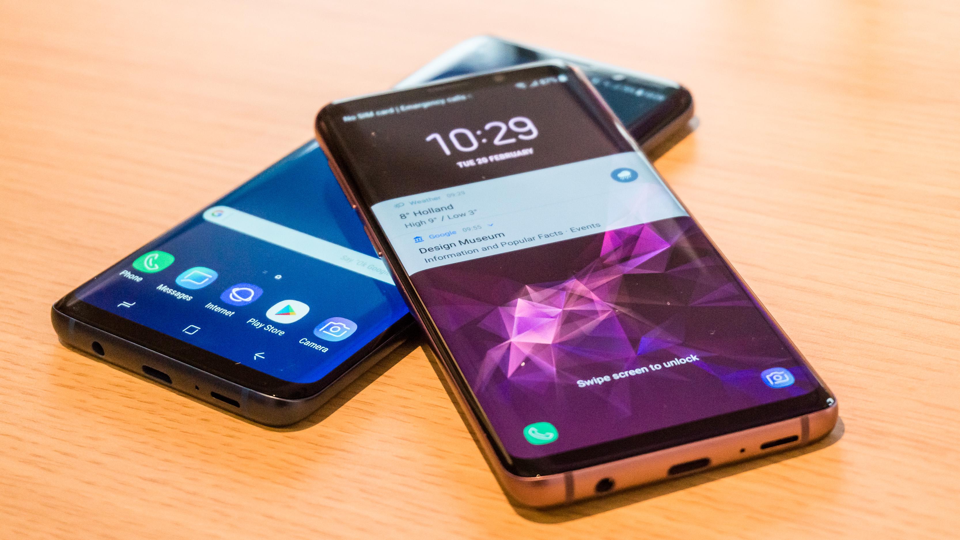 Samsung Galaxy S9 Foto In Echt Größe