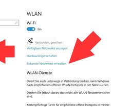 Windows 10: WLAN-Netzwerk löschen (bebilderte Anleitung)
