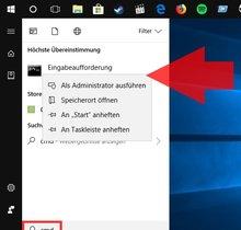 Eingabeaufforderung unter Windows 10, 8.1 & 7 öffnen (bebilderte Anleitung)