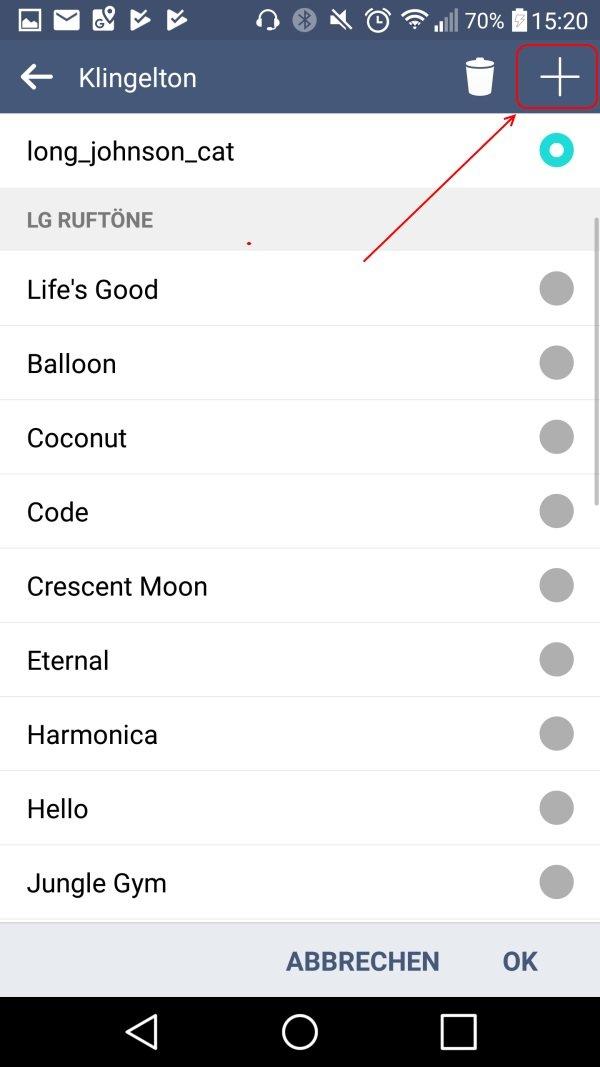 Klingelton Android