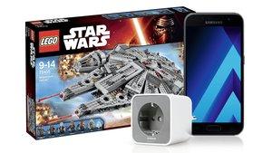 Amazon Angebote: Samsung Galaxy A3, Star Wars Produkte, smarte Steckdose günstiger