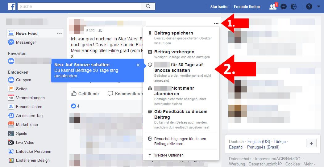 Facebook Stumm Schalten