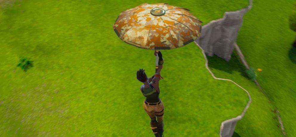 Unser erste Flug mit dem goldenen Regenschirm war majestätisch.