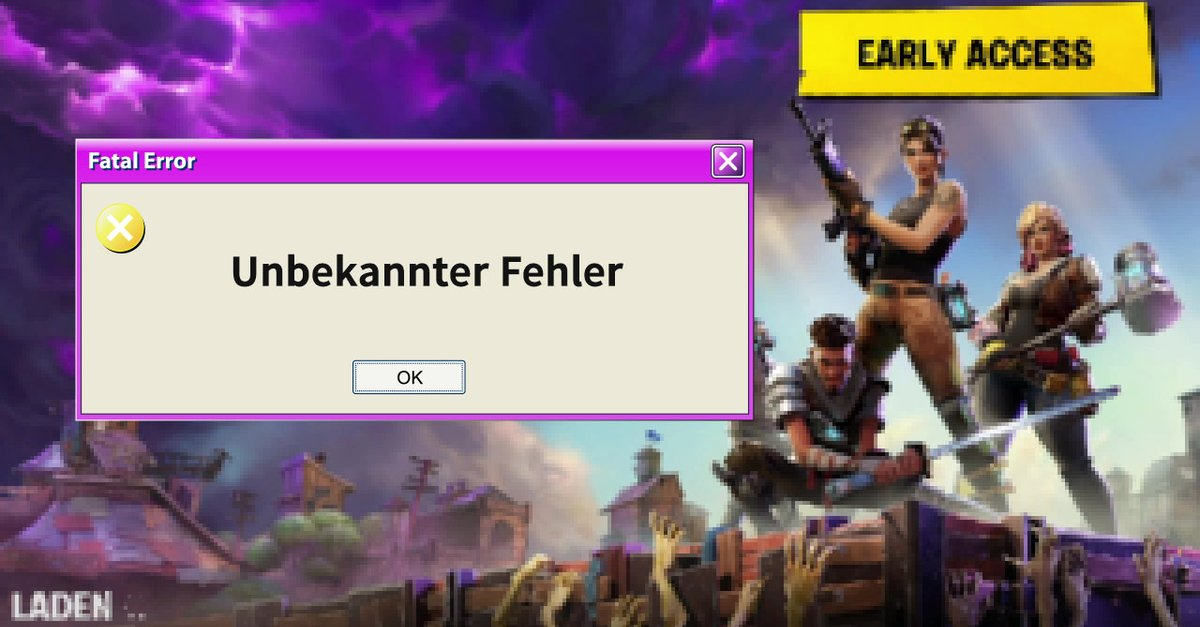 fortnite battle royale geht nicht fehler und l sungen. Black Bedroom Furniture Sets. Home Design Ideas