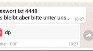 """Ist die WhatsApp-Nachricht """"Passwort 4448"""" gefährlich? (PDF-Anhang)"""