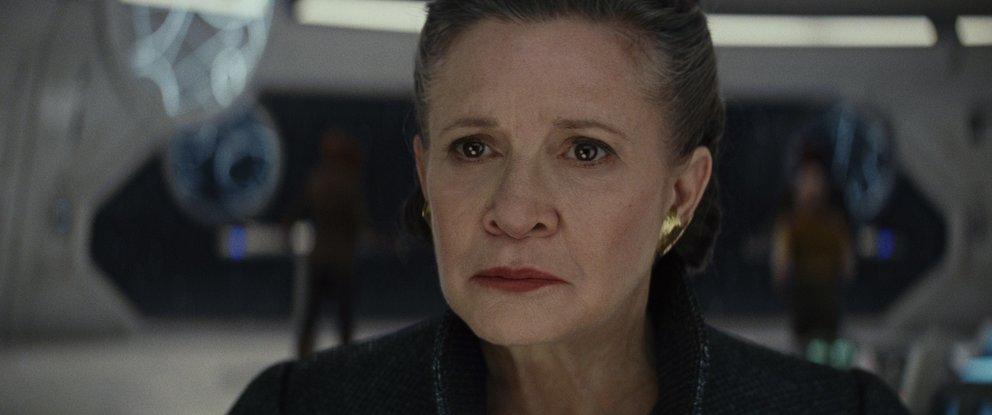 """Carrie Fisher als Leia in """"Star Wars: Die letzten Jedi"""" (Quelle: Walt Disney)"""