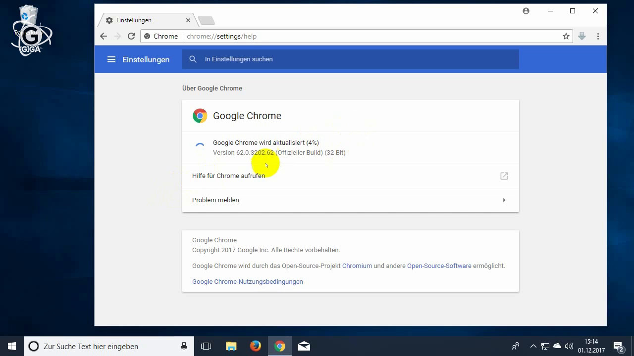 Google Chrome aktualisieren (Video-Tutorial)