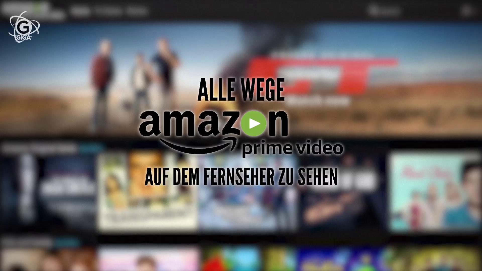 Amazon Prime Video auf dem Fernseher