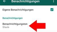 WhatsApp-Ton für bestimmten Kontakt ändern