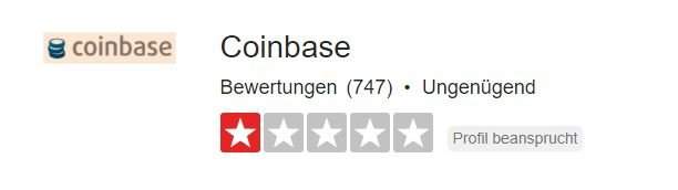Coinbase Bewertung