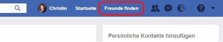 personensuche bei facebook