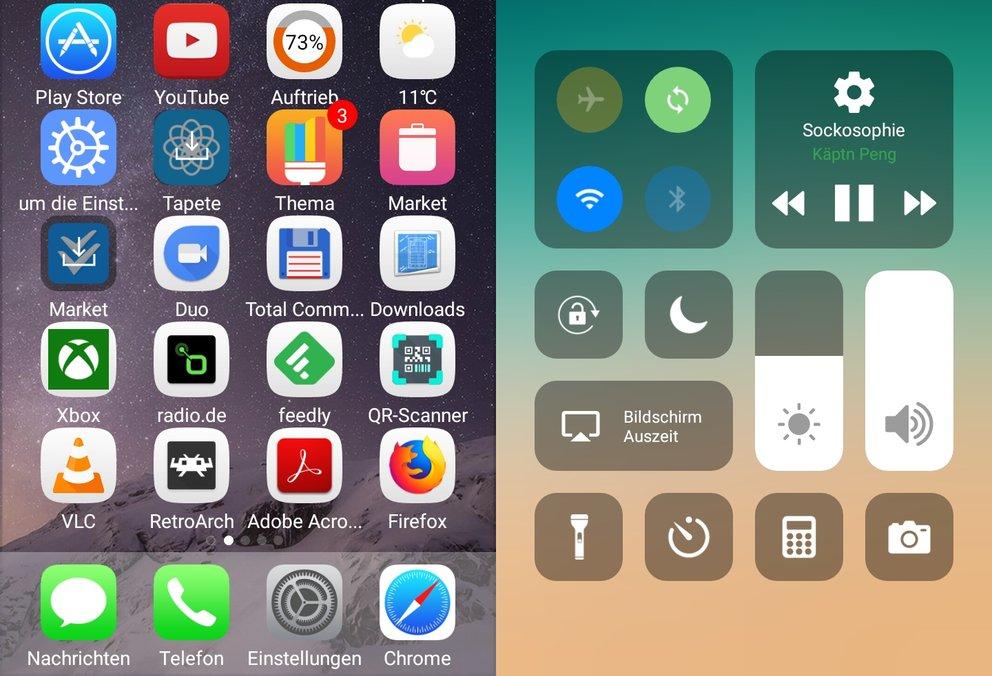 ios 11 launcher android handy als iphone verkleiden giga. Black Bedroom Furniture Sets. Home Design Ideas