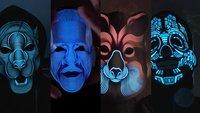 Musik lässt sie aufleuchten: Diese LED-Masken sind der Renner auf Kickstarter