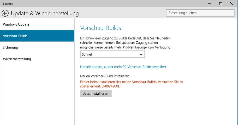 Lösung: Windows Update-Fehler 0x8024200D