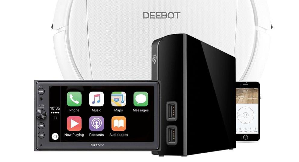 Amazon Angebote: Apple Car Play Radio, Seagate Festplatte, Reinigungsroboter