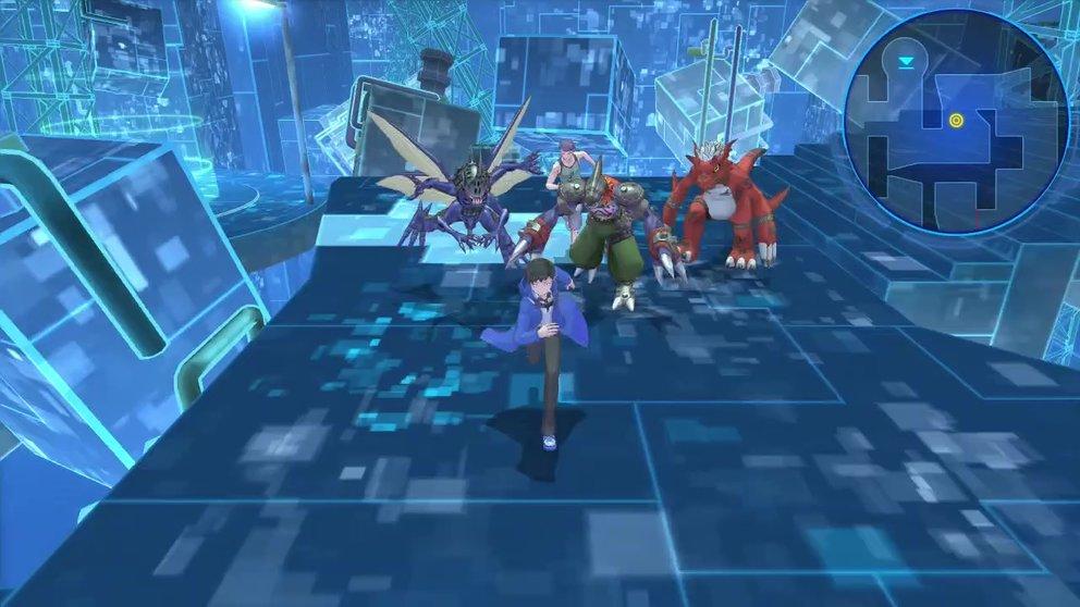 Mit Speicher-Up laufen noch mehr starke Digimon um euch herum.