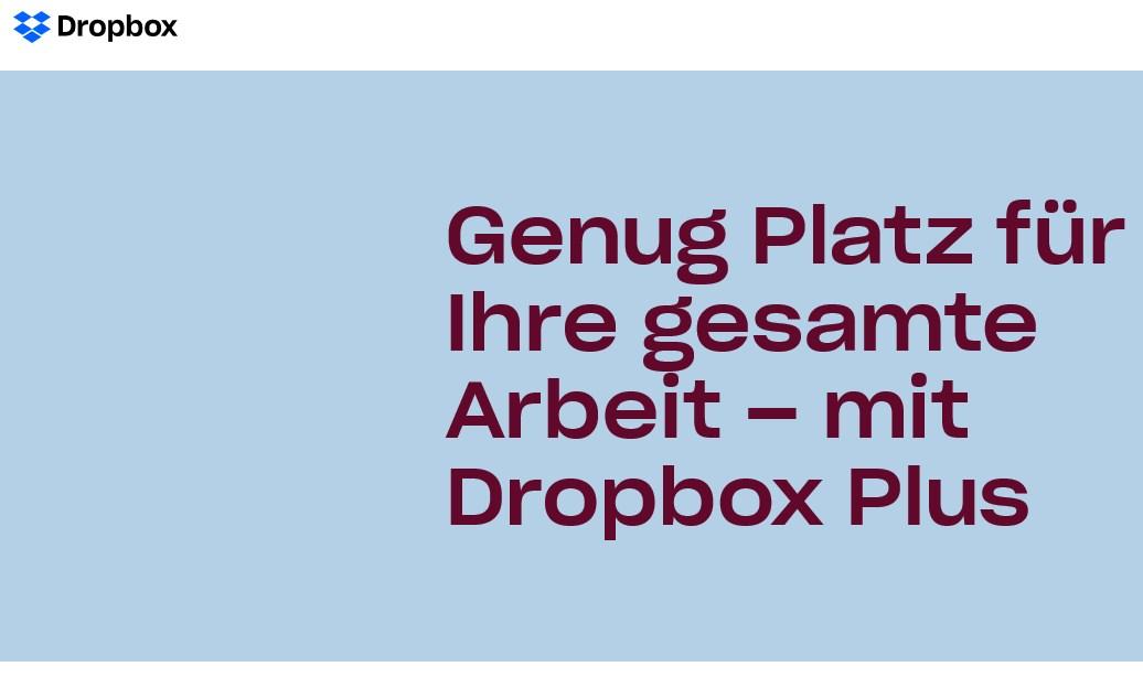 Was ist Dropbox Plus, was wird geboten, was kostet es?